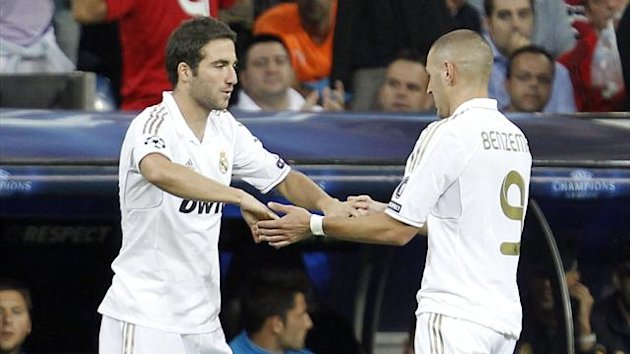 FOOTBALL - 2011/2012 - Real Madrid - Benzema - Higuain