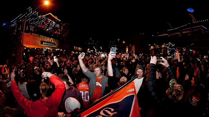 Denver Broncos Fans Watch Super Bowl 50