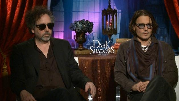 Tim Burton and Johnny Depp speak to Access Hollywood at the 'Dark Shadows' junket, May 2012 -- Access Hollywood
