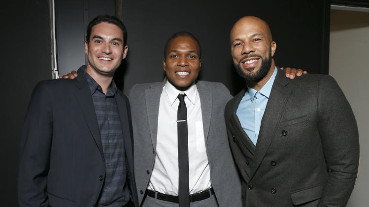 "Producer Jason Michael Berman, Director Sheldon Candis and Common attend the LA premiere of ""Luv"" at the Pacific Design Center on Thursday, Jan. 10, 2013, in West Hollywood, California. (Photo by Todd Williamson/Invision/AP)"