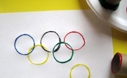 Painted Olympic Ring Invitations