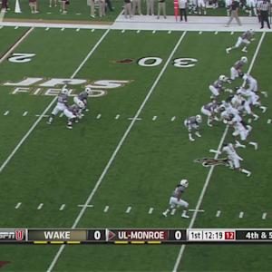Wake Forest Blocks Punt for Touchdown   ACC Must See Moment