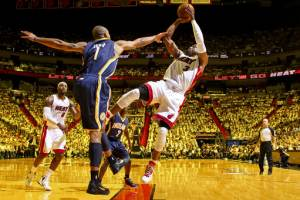 James, Wade lead Heat to 115-83 win over Pacers