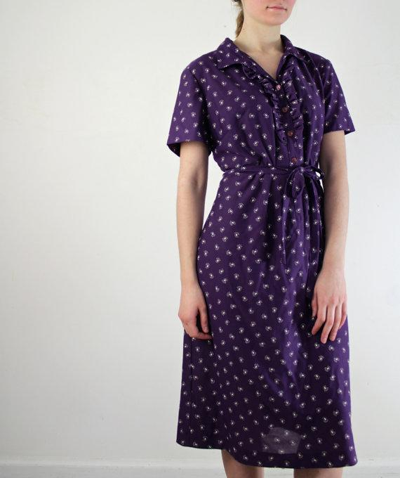 Purple Calico Dress
