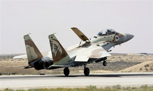 "An Israeli F-15 warplane lands at the Hazerim Air Force Base in the Negev desert. Iran has dismissed Israeli threats of an imminent attack against it, explaining that even some Israeli officials realised such a ""stupid"" act would provoke ""very severe consequences."""