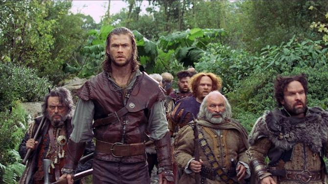 "This film image released by Universal Pictures shows Chris Hemsworth in a scene from ""Snow White and the Huntsman"". (AP Photo/Universal Pictures)"