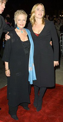 Judi Dench and Kate Winslet at the New York premiere of Miramax's Iris