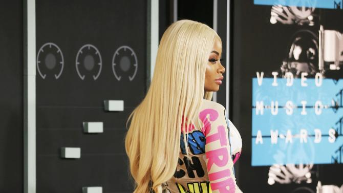 Blac Chyna arrives at the 2015 MTV Video Music Awards in Los Angeles