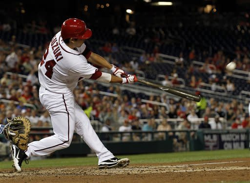Nationals sweep Cubs 9-2 in fight-filled game