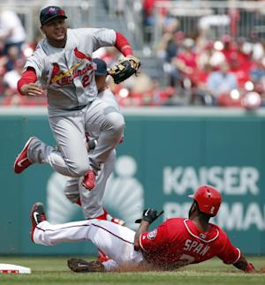 Harper pulled for not hustling, Nats fall to Cards