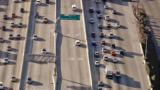 110 Freeway toll lanes to open in Los Angeles County on Saturday night