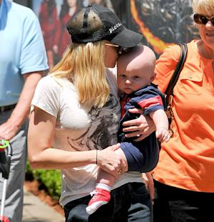 Anna Faris Kisses Adorable Baby Jack During Outing in L.A