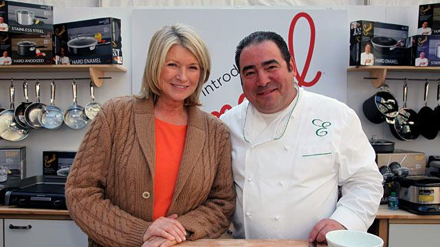 Martha Stewart, Emeril Lagasse in Fake Knives Suit