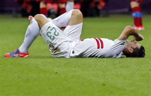 Portugal's Postiga out of semifinals with injury