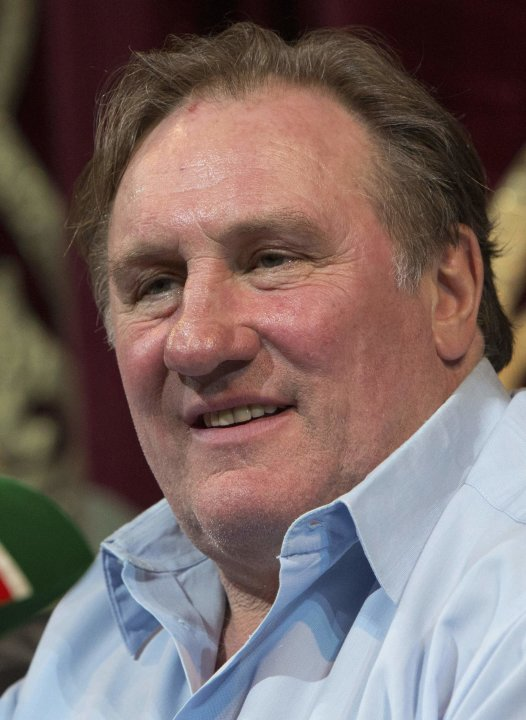 Actor Depardieu participates in a news conference in Grozny