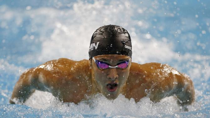 Japan's Seto competes in the men's 200m butterfly final swimming competition during the 17th Asian Games in Incheon