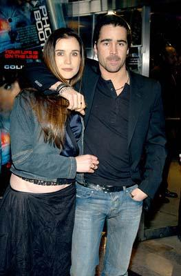 Colin Farrell and sister Catherine at the New York premiere of 20th Century Fox's Phone Booth