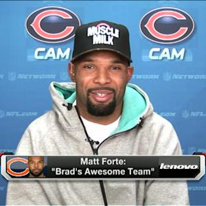 'NFL Fantasy Live': Chicago Bears running back Matt Forte sees no difference in QB Jay Cutler and QB Josh McCown