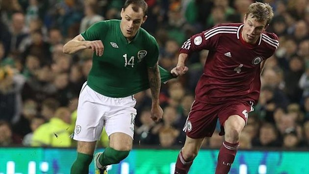 Republic of Ireland's Anthony Stokes sasy their group is too close to call