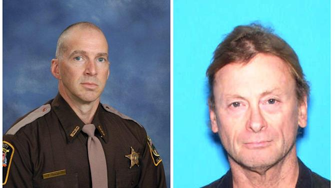 These photos provided by the Baldwin County Sheriffs Department show Michael Jansen, right, of Fairhope, Alabama. Jansen was shot during an armed confrontation with police Friday Nov. 23, 2012 in Fair and Baldwin County Sheriff Deputy Scott Ward.. Both were killed Friday Nov. 23, 2012. Authorities say the Alabama deputy sheriff was been fatally shot and another deputy has been critically wounded while checking on Jansen, who was also killed. (AP Photo/Baldwin County Sheriffs Department)