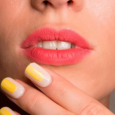 Create a perfectly imperfect pink lip.