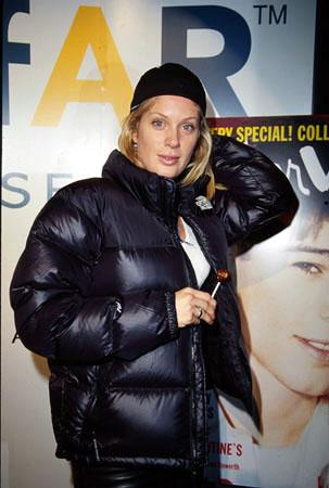 "Rachel Hunter, star of ""Just A Little Harmless Sex"" Amfar/Interview Party Sundance Film Festival January 24, 2000"