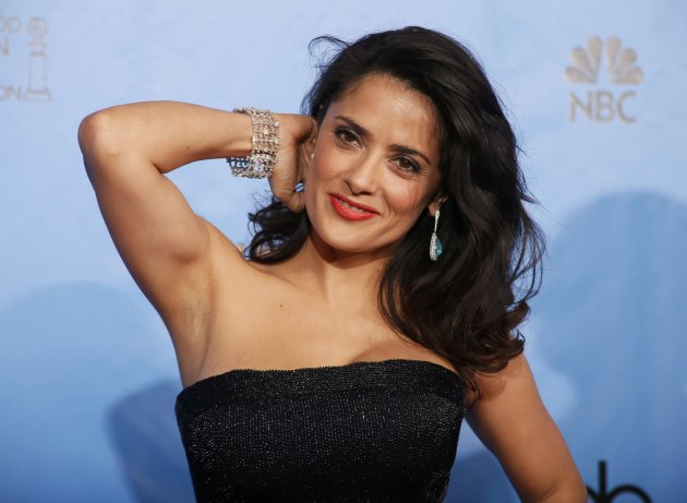 Presenter Salma Hayek poses …