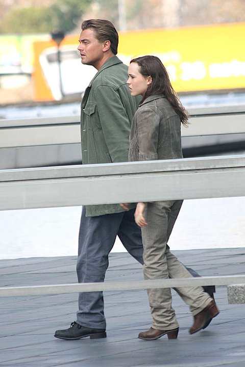 Spotted On Set October 2009 Leonardo DiCaprio Ellen Page