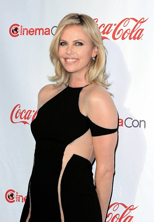 Charlize Theron, recipient of the Distinguished Decade of Achievement in Film Award, at the CinemaCon awards ceremony at Pure Nightclub in Caesars Palace Las Vegas, Nevada - 26.04.12 Mandatory Credit: