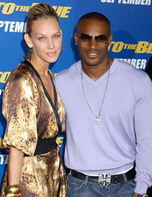 Tyson Beckford with April Roomet at the Westwood premiere of MGM/Columbia Pictures' Into the Blue