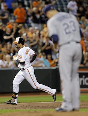 Orioles hit 5 HRs in 9-1 win over Rays