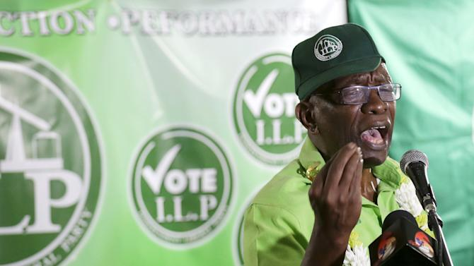 Former FIFA Vice President Jack Warner addresses supporters during a political rally organised by his Independent Liberal Party in Chaguanas