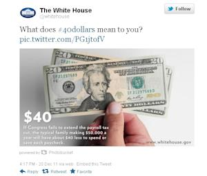The White House Finds Out $40 Is a Depressing Number