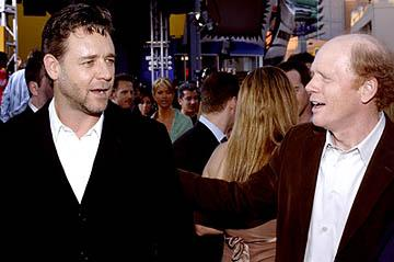 Russell Crowe and Ron Howard at the LA premiere of Universal's Cinderella Man