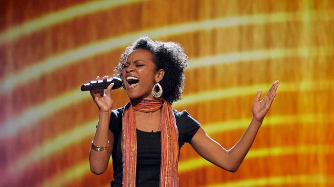 Syesha Mercardo performs as one of the top 24 contestants on the 7th season of American Idol.