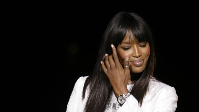 FILE - In this Feb. 21, 2008 file photo, Naomi Campbell attends the Dolce & Gabbana women's Fall/Winter 2008/2009 collection presented in Milan, Italy.  Supermodel Naomi Campbell has visited the holy West Bank town of Bethlehem on her birthday Tuesday, May 22, 2012. (AP Photo/Luca Bruno)