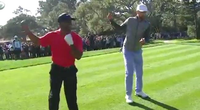 Justin Timberlake And Alfonso Riberio Carlton'd All Over A Golf Course
