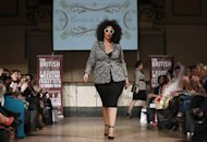 Plus-sized models carve out corner of London Fashion Week