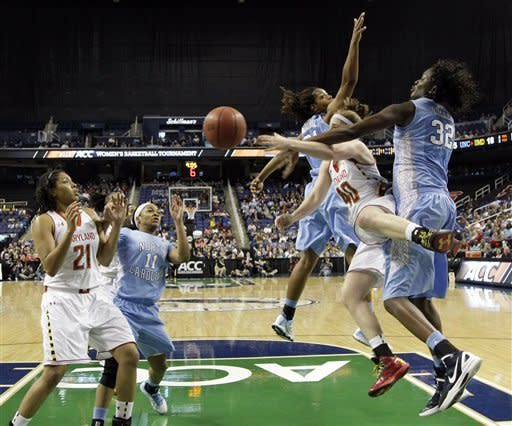 No. 15 UNC women top No. 10 Terps 72-65 at ACCs