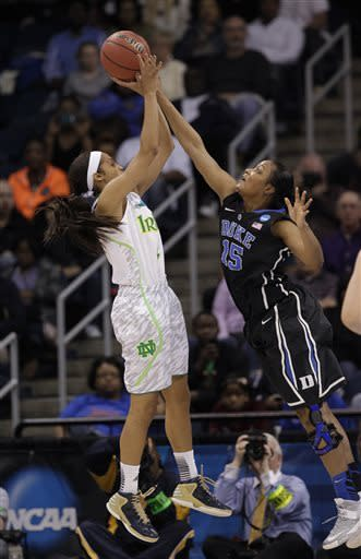 Diggins leads Notre Dame women past Duke, 87-76