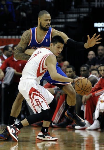 Parsons leads Rockets to 131-103 win over Knicks