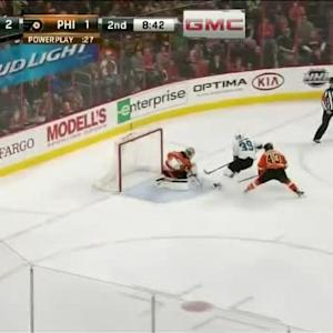 Steve Mason Save on Logan Couture (11:20/2nd)