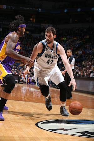 Love shines in Timberwolves' win over Lakers