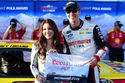 NASCAR Richmond 2015 qualifying results: Joey Logano wins pole, Denny Hamlin second