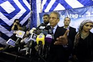 Egyptian presidential candidate Amr Mussa speaks during a press conference in Cairo on May 20.The Supreme Council of the Armed Forces on Monday urged Egyptians to accept the results of a looming presidential election, the first in the country since a 2011 uprising ousted dictator Hosni Mubarak