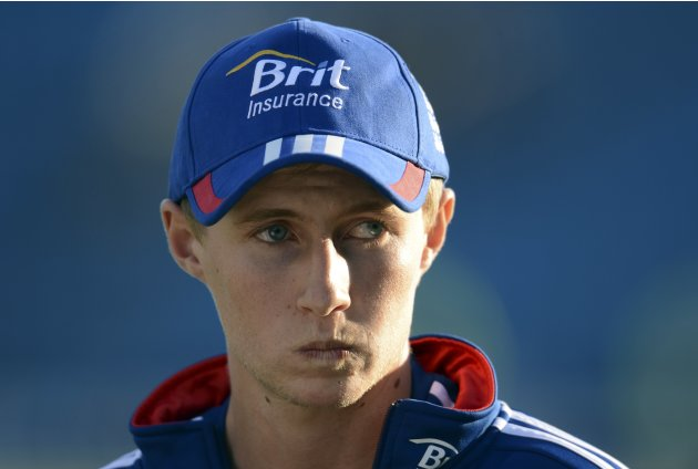 England's Root waits to be interviewed after the second day of the second test cricket match against  New Zealand at Headingley cricket ground in Leeds