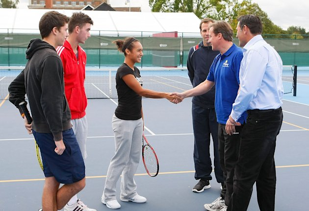 David Cameron Visits National Tennis Centre