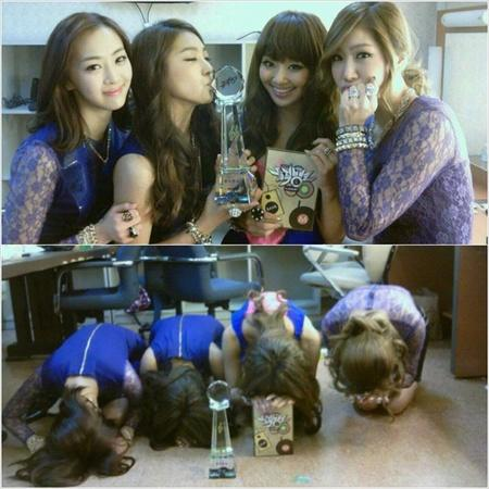 SISTAR Bows to Fans After First Place Win