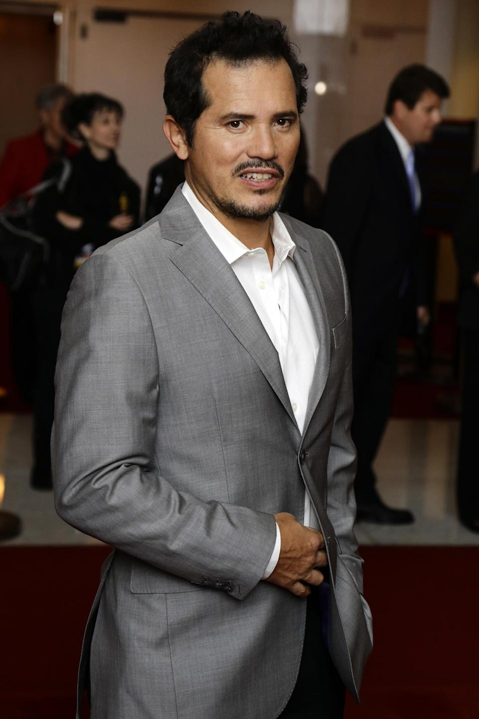 Actor John Leguizamo poses for photographers on the red carpet, before entertainer Ellen DeGeneres receives the 15th annual Mark Twain Prize for American Humor at the Kennedy Center, Monday, Oct. 22, 2012, in Washington. (AP Photo/Alex Brandon)