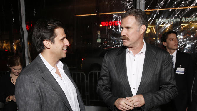 "President of MGM Jonathan Glickman and Producer Will Ferrell attend the premiere of ""Hansel & Gretel Witch Hunters"" on Thursday Jan. 24, 2013, in Los Angeles.  (Photo by Todd Williamson/Invision/AP)"
